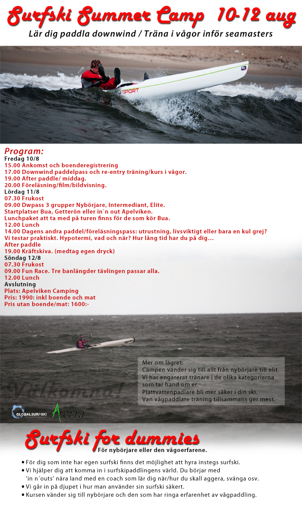 Surfski summer camp