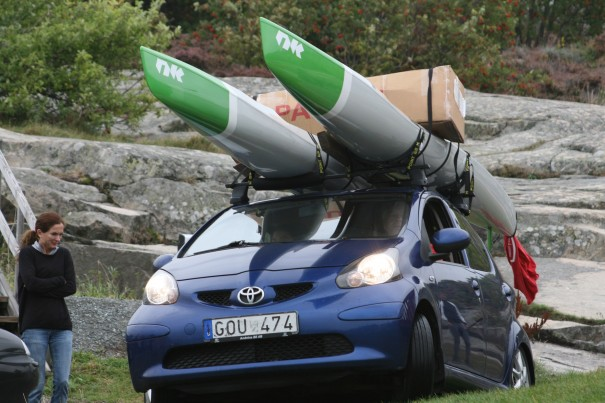 The real surfski mobil (Photo: Kristin Levemyr)