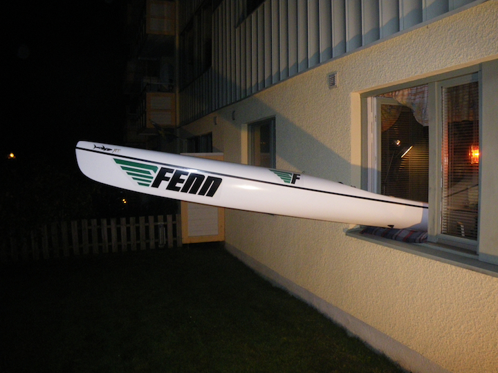 yes, it is a struggle every time to get the surfski in and out of the apartment. :)