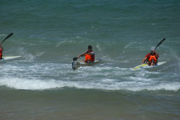 Great conditons for a surfski race