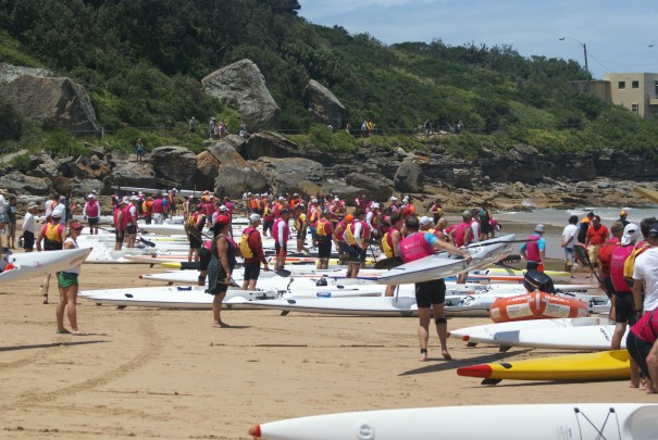 At the start at Freshwater Beach