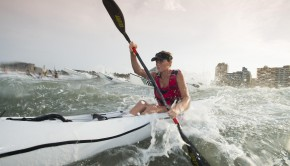 Jenna Ward was one of a host of talented female paddlers to tackle in the McCarthy Toyota Kingsmead Durban Surfski Challenge, race three of the 2014 Varsity College Marine Surfski Series, ultimately finishing third behind Michelle Burn and Danica Bartho.
