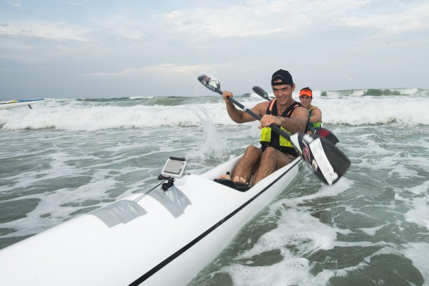 Mark Mulder and Dave Chaplin enjoyed another pre-Dusi Canoe Marathon hit-out as they claimed victory in the doubles section of the McCarthy Toyota Kingsmead Durban Surfski Challenge, race three of the 2014 Varsity College Marine Surfski Series.