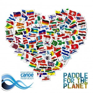 paddle for the planet flags heart