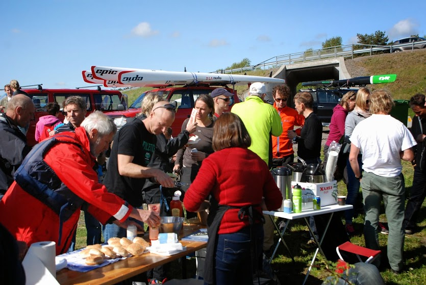 Barbeque after the race