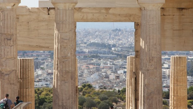The view of the city from Akropolis